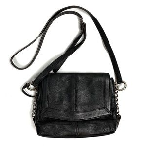 B. Makowsky Black Flap Crossbody Bag